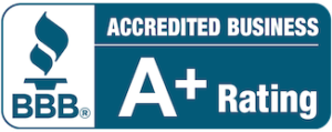 A+ Rating with Better Business Bureau logo
